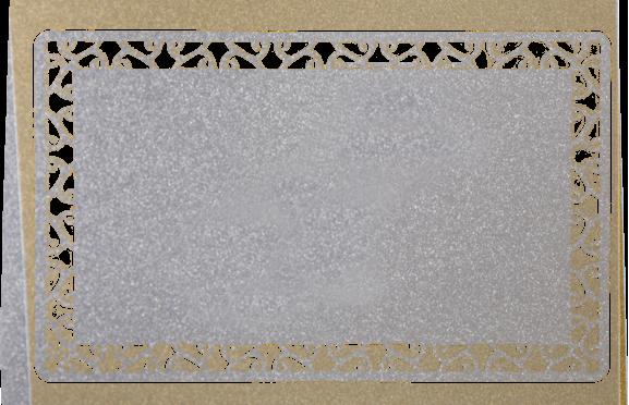 Визитки из металла серебряного цвета