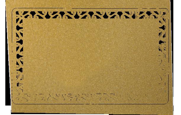 Визитки из металла золотого цвета