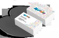 Цветные двухсторонние визитки